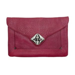 7 FOR ALL MANKIND Textured-Leather Clutch